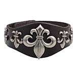 Men's Bracelet , Bohemian Fashion Oversized Leather Alloy Circle Jewelry For Date Going out