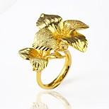 Недорогие -Муж. Жен. Массивные кольца манжета кольцо , С цветами Массивные украшения Крупногабаритные Позолота Цветы Бижутерия Для вечеринок Для