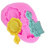 Недорогие -diy зеркало расческа мыльница конфета выпечка помада плесень сахара ремесло силиконовые формы торт украшения инструменты