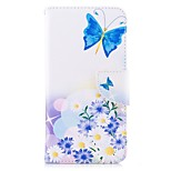 cheap -Case For Xiaomi Redmi 5 Plus Redmi Note 5A Card Holder Wallet with Stand Flip Magnetic Full Body Cases Butterfly Flower Hard PU Leather