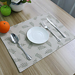 cheap -Ordinary Linen&Cotton Blend Square Placemat Table Decorations