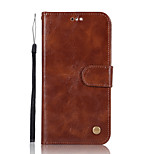 cheap -Case For Huawei P9 lite mini P8 Lite (2017) Card Holder Wallet with Stand Flip Full Body Solid Color Hard PU Leather for P10 Plus P10