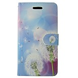 Недорогие -Кейс для Назначение Huawei P8 Lite Кошелек Бумажник для карт со стендом Флип одуванчик Цветы Твердый для Huawei