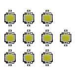 Недорогие -10w cob 800lm 3000-3200k / 6000-6200k теплый белый / белый светодиодный светодиодный чип dc30-36v 10 шт.