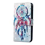 Недорогие -Кейс для Назначение Huawei P9 lite mini Кошелек Бумажник для карт со стендом Флип Магнитный С узором Чехол Ловец снов Твердый