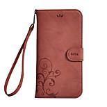 Недорогие -Кейс для Назначение Huawei Кошелек Бумажник для карт со стендом Флип Цветы Твердый для Huawei