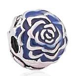 Недорогие -Ювелирные изделия DIY 1 штук Бусины Эмаль Сплав Синий Тёмно-синий Цветы Шарик 0.5 cm DIY Ожерелье Браслеты