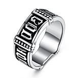 Недорогие -Муж. Массивные кольца , металлический Хип-хоп Мода Нержавеющая сталь , Бижутерия Бар фестиваль
