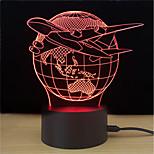 Недорогие -1 комплект LED Night Light Стресс и тревога помощи С портом USB Декоративный свет Меняет цвета Работает от USB Сенсорный 7-Color
