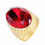 cheap -Men's Statement Rings Cubic Zirconia Casual Fashion Stainless Steel Zircon , Jewelry Party Ceremony