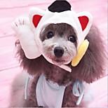 Недорогие -Кошка Собака Платки и шапочки Одежда для собак Животные Новый год Пэчворк Костюм Для домашних животных