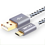 Недорогие -CE-Link USB 2.0 Кабель, USB 2.0 to Micro USB 2.0 Кабель Male - Female 0.15m (0.5Ft)