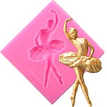 cheap -Dancer Cake Silicone Molds Fondant Decorating Tools Candy Clay Resin Chocolate Gumpaste Moulds