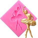 Недорогие -танцор торт силиконовые формы помадные инструменты для украшения конфеты глиняная смола шоколадные гумпасты формы