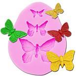 Недорогие -3d силиконовая форма бабочки формы формы 3 полости для мыла конфеты шоколад ледяной торт инструменты