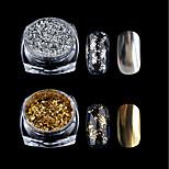Недорогие -1шт блестит Зеркальный эффект Гель для ногтей Гель для ногтей Порошок блеска порошок Дизайн ногтей