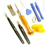 Недорогие -Сотовый телефон Набор инструментов для ремонта 6 в 1 Пинцеты Отвертка Присоска Пластмасса / Stianless Steel Pry Выталкивающая шпилька для