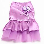 preiswerte -Hund Kleider Hundekleidung Party/Abends Hochzeit Prinzessin Prinzessin Purpur Rot Blau Rosa Kostüm Für Haustiere
