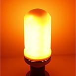 abordables -1pc 5W 700lm E27 Bombillas LED de Mazorca E27 / E14 96 LED SMD Luces LED Decorativa Efecto llama Blanco Cálido 1400K AC 85-265V