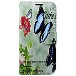 Недорогие -Кейс для Назначение Huawei P10 Кошелек Бумажник для карт со стендом Флип Бабочка Твердый для Huawei