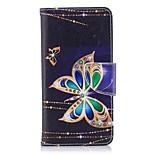 Недорогие -Кейс для Назначение Huawei P9 lite mini P10 Lite Кошелек Бумажник для карт со стендом Флип Магнитный Чехол Бабочка Твердый Кожа PU ТПУ для