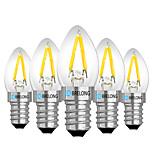 Недорогие -BRELONG® 5 шт. 2 Вт. 120 lm E14 E12 Круглые LED лампы 2 светодиоды Тёплый белый Белый Красный AC 220V