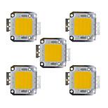 Недорогие -30w cob 2400lm 3000-3200k / 6000-6200k теплый белый / белый светодиодный чип dc30-36v 5pcs