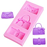cheap -Fashion Bags Fondant Chocolate Mold Silicone Mould Fondant Cake Decoration Tools