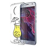 Недорогие -Кейс для Назначение Motorola E4 Plus С узором Кейс на заднюю панель Продукты питания Мягкий ТПУ для Moto X4 Moto E4 Plus Moto E4
