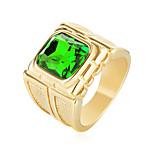 Недорогие -Муж. Массивные кольца Цирконий На каждый день Мода Нержавеющая сталь Циркон , Бижутерия День рождения Подарок
