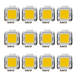 Недорогие -20w cob 1600lm 3000-3200k / 6000-6200k теплый белый / белый светодиодный светодиодный чип dc30-36v 12pcs