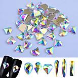 Недорогие -Блеск Блестки и пайетки Гель для ногтей Случайный цвет Дизайн ногтей