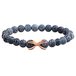 cheap -Men's Chain Bracelet Bangles Onyx Tiger Eye Stone Volcanic Stone Simple Casual Fashion Alloy Circle Jewelry Daily Formal