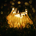 cheap -Waterproof 30 LEDs 6M String Light Warm White Decorative Solar Powered