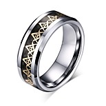 cheap -Men's Band Rings , Vintage Basic Stainless Steel Circle Letter Jewelry Birthday Daily