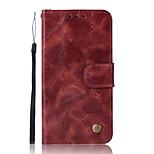Недорогие -Кейс для Назначение Xiaomi Redmi Примечание 5A Бумажник для карт Кошелек со стендом Флип Чехол Сплошной цвет Твердый Искусственная кожа