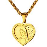 Недорогие -Муж. Сердце Винтаж На каждый день Ожерелья с подвесками , Нержавеющая сталь Ожерелья с подвесками , Повседневные Официальные