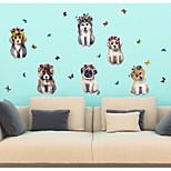 Недорогие -Животные 3D Наклейки 3D наклейки Декоративные наклейки на стены,Бумага Украшение дома Наклейка на стену Стена Окно