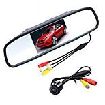 Недорогие -ziqiao 4,3-дюймовый цифровой ЖК-монитор tft lcd и камера заднего вида для автомобиля ccd hd