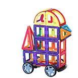 Недорогие -Магнитный конструктор Игрушки Автомобиль Классика трансформируемый Новый дизайн Мягкие пластиковые 32 Куски