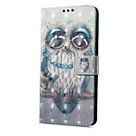 cheap -Case For Xiaomi Redmi Note 5A Redmi Note 4X Card Holder Wallet with Stand Flip Magnetic Pattern Owl Hard for