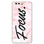 cheap -Case For Huawei P10 Lite Pattern Back Cover Word / Phrase Marble Soft TPU for P10 Plus P10 Lite P10 P9 P9 Lite P9 Plus P8 P8 Lite P7