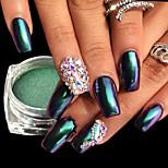 Недорогие -1шт Роскошь Блестящие Зеркальный эффект Гель для ногтей Порошок блеска порошок Советы для ногтей Дизайн ногтей