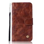 Недорогие -Кейс для Назначение Motorola G5 Plus Бумажник для карт Кошелек со стендом Флип Чехол Сплошной цвет Твердый Искусственная кожа для Moto Z2