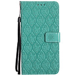 cheap -Case For Huawei Honor 9 Card Holder Wallet with Stand Embossed Full Body Solid Color Flower Hard PU Leather for Honor 9 Honor 6X