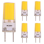 cheap -5pcs 3W 260 LED Bi-pin Lights 1 LEDs COB LED Lights Warm White 2800-3500K AC 220-240V