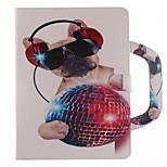 Недорогие -Кейс для Назначение Apple iPad mini 4 Бумажник для карт со стендом С узором Чехол С собакой Твердый Искусственная кожа для iPad Mini 4
