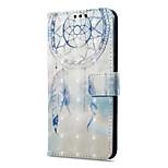 Недорогие -Кейс для Назначение OnePlus 5 OnePlus 5T Кошелек Бумажник для карт со стендом Флип Магнитный С узором Чехол Ловец снов Твердый