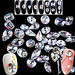 cheap -Rhinestones Nail Jewelry Nail Glitter Crystal Fashionable Jewelry Luxury Pattern Clear Nail Art Design