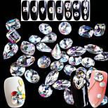 Недорогие -Гель для ногтей Хрусталь Роскошь Образец Прозрачный Дизайн ногтей